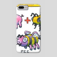 Creature Design Process: Pee - Phone Case by Ugly Ink