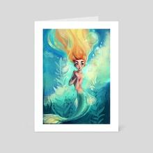 the pretty mermaid - Art Card by Peter Brockhammer