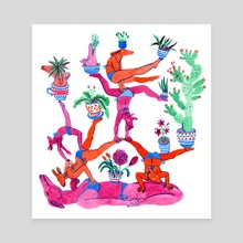 Gymnastics - Canvas by Lisa Hanawalt