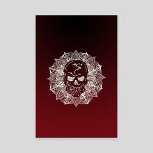 Mandala Circle Human Skull - Canvas by Sebastian Grafmann