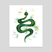 Sap Snake - Canvas by Ilse Åsbakk