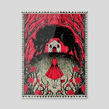 Red Riding Hood - Acrylic by Evangeline Gallagher