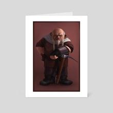 7 Dwarves - Grumpy - Art Card by Jordy Lakiere