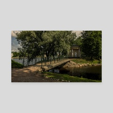 Bridge In A City Park, St. Petersburg (Russia) 07-2018 - Canvas by Vlad Meytin