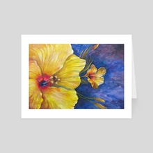 Yellow flower -  Aquarelle - Art Card by Vladimir Kolev