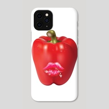 Red 'HOT' Bell Pepper - Phone Case by Vidka Art