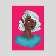 Royal Elf - Canvas by Damilola Olaleye