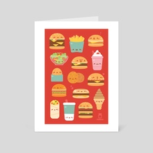 Chubby Burgers - Art Card by Daria Rhodes