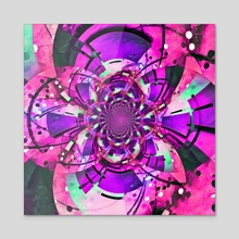 Optical illusion. Vivid Fractal. Pink colors - Acrylic by Bruce Rolff