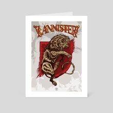 Lannister shield / Game of thrones - Art Card by Jhony Caballero