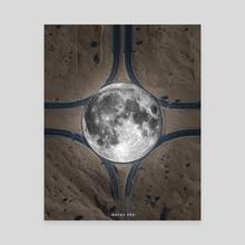 Moon - Canvas by Ayaz Malik