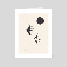 Swallows - Art Card by Amer Karic