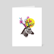Deer Spring - Art Card by Suelen