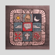 Mosaic Spirit - Canvas by Bernardo Ramonfaur