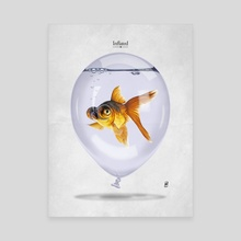 Inflated - Canvas by Rob Art