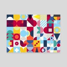 Geometry Colour poster - Canvas by Revolution Australia