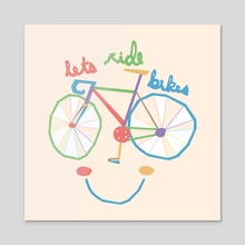 Lets Ride Bikes - Acrylic by Kyle Smith
