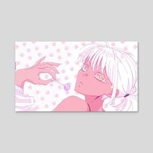 Strawberry Lollipop - Acrylic by Holly Elyse