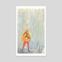 Rain - Canvas by Sarah van Dongen