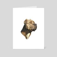 pit bull - Art Card by Dmitry Payvin