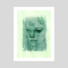 Girl on Green - Art Print by Sara Blake