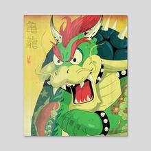 Dragon Turtle - Acrylic by Jake Giddens