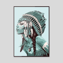 Native American - Acrylic by Non Vale Art