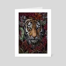 Floral Tiger - Art Card by Malia Skidmore