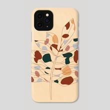 Abstract Botanical Art, Modern Line Work - Phone Case by Ariani Anwar