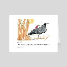 Bee Catcher and Koribustard - Art Card by Shannon McNeill