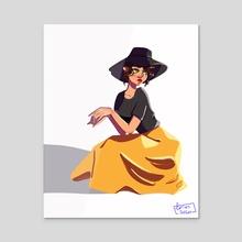 Yellow skirt - Acrylic by Lotus