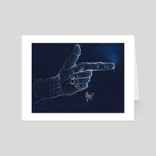 Finger Bang - Art Card by Chris Panila