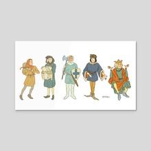 Medieval Guys - Acrylic by Rosie Cerrone