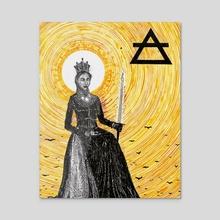 Queen of Swords  - Acrylic by Holden Haley