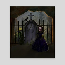 My Grave - Canvas by Asli Alkis