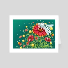 Albino Bee - Art Card by Hannah Agosta