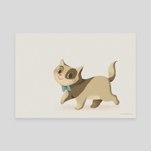 Little Cat Simply - Canvas by Greg Abbott