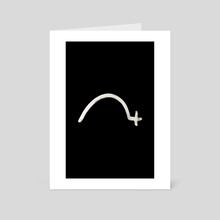 Hobo Sign - 080 - Stop Inverted - Art Card by Wetdryvac WDV