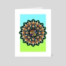Stardew Valley Mandala - Art Card by Demi Taylor