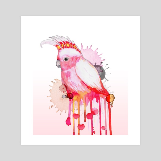 51d2bffe0bb3 Major Mitchell's cockatoo, an art print by Bianca Wisseloo - INPRNT