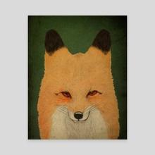 Foxy Fox - Canvas by Oscar Civit
