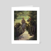 Good Omens - The Gallant Suitor Repaint - Art Card by gemennair