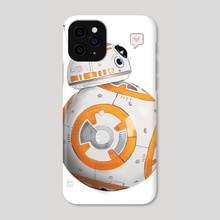robot love - Phone Case by Lisa Nashed