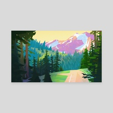 MountainPass - Canvas by Nicholas Kennedy
