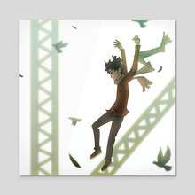 Airborne - Acrylic by Clayton Nguyen