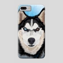 Husky portrait - Phone Case by Carl Conway