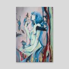 Death & Transformation - Acrylic by Audra Auclair