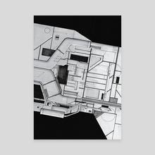Hull detail. - Canvas by Fabien Daubet