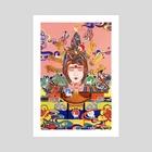The Nine-Coloured Deer - Art Print by Yin Lu