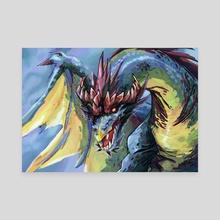 Dragon #4 - Canvas by Anna Augustyniak